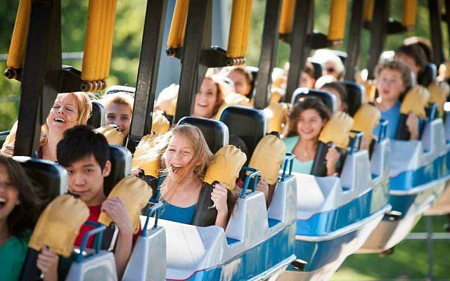 On the Vortex ride at Canada's Wonderland. (Courtesy)