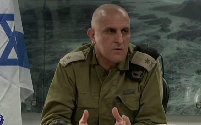 Head of the IDF Southern Command, Sami Turgeman (YouTube screen capture/IDF)
