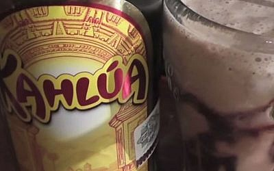 A bottle of Kahlua coffee liqueur (YouTube screen capture)