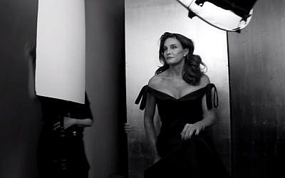 Caitlyn Jenner during her recent photo shoot for a Vanity Fair cover (YouTube screen capture)