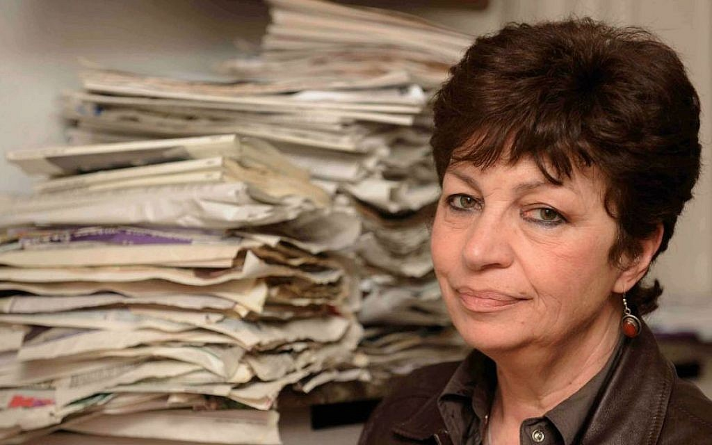 Bulgarian Jew Claire Levy in Sofia in 2012. (Courtesy of talesofladino.wordpress.com/ via JTA)