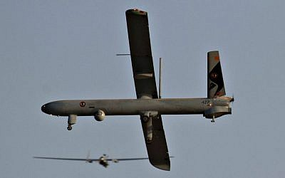 Illustrative photo of a UAV, June 2010. (Ofer Zidon/Flash90)