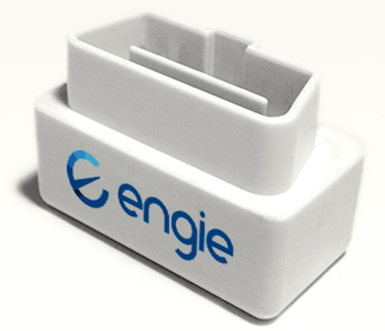 The Engie dongle, which transmits diagnosis information to a smartphone app  when attached to a vehicle's OBD port (Courtesy)