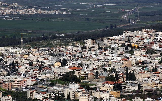 View of Kafr Kanna, in the Galilee region of Israel. March 28 2011. Photo by Nati Shohat/Flash90.