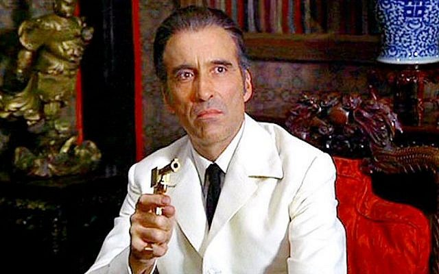 Christopher Lee as Francisco Scaramanga in the 1974 James Bond movie The Man with the Golden Gun (Courtesy)