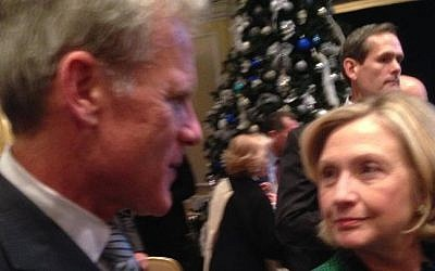 Michael Oren with Hillary Clinton, December 2014  (Facebook)