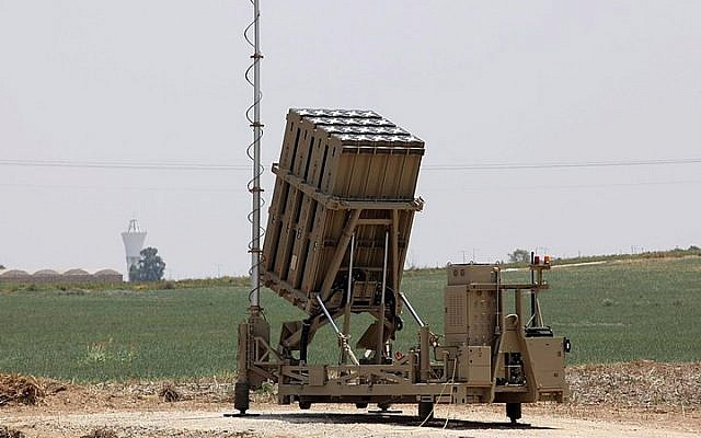 File: An Iron Dome battery seen near the southern Israeli town of Netivot on December 27, 2014. (Talucho/Flash90)