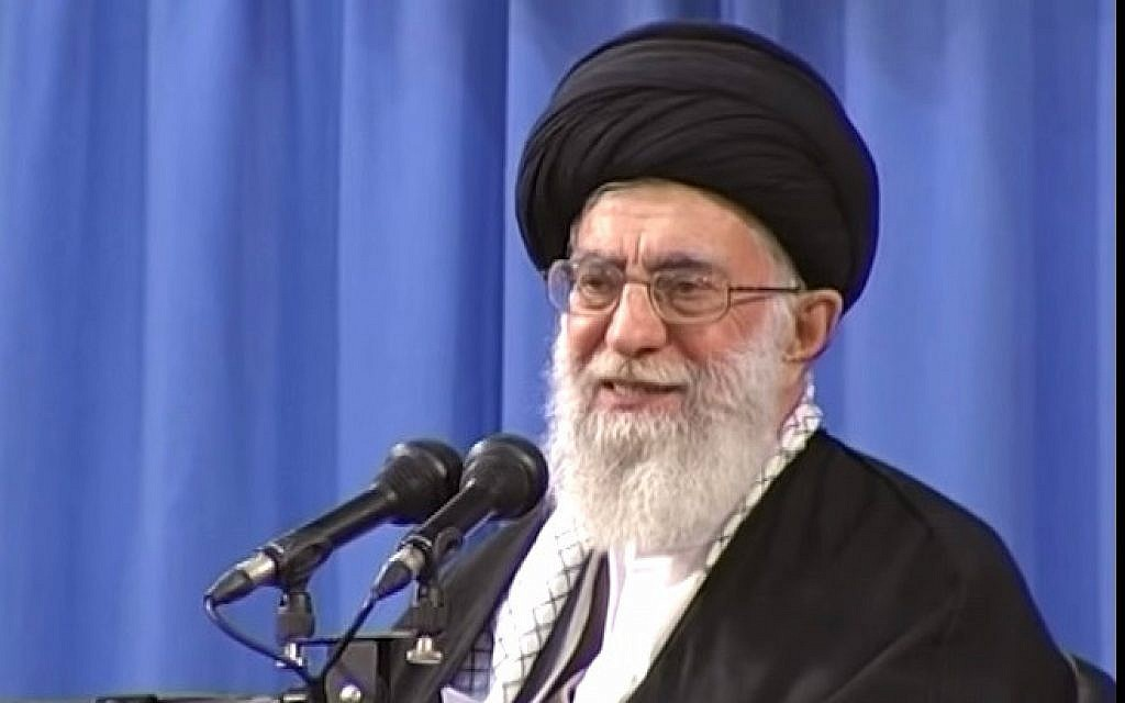 File: Iran's Supreme Leader Ayatollah Ali Khamenei. (Screen capture: YouTube)