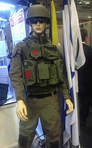 A prototype of a new IDF uniform that the Technology and Logistics Branch is considering introducing (Mitch Ginsburg/ Times of Israel)