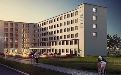 An illustration of the Prora beach resort is shown on the website of developing company Metropol (screen capture via www.metropol-marketing.de)