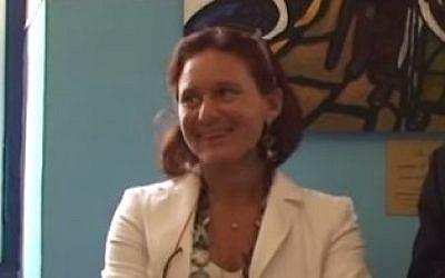 Ruth Dureghello, leader of Rome's Jewish community (YouTube screenshot)