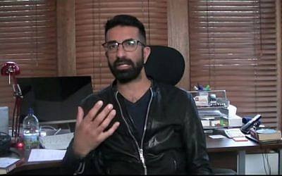 Asghar Bukhari explaining how his shoe went missing in a YouTube video (Screen capture: YouTube)