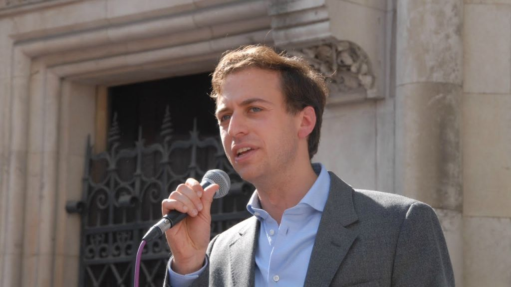 Gideon Falter, chair of London's Campaign Against Antisemitism, was instrumental in the neo-Nazi rally's change of location. (courtesy)