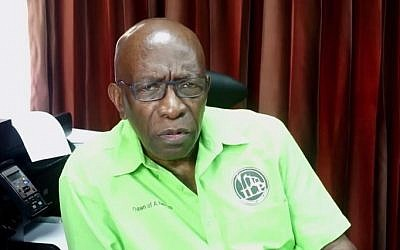 Former FIFA vice president Jack Warner, 72, in a video uploaded to YouTube Sunday, May 31, 2015 (YouTube screen cap)