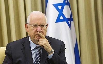 President Reuven Rivlin, at his residence in Jerusalem on May 28, 2015. (Miriam Alster/FLASH90)