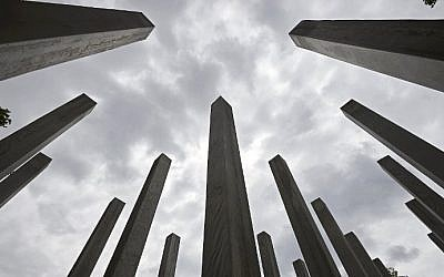 A memorial dedicated to the 52 people that were killed during the 7/7 terror attacks in London is pictured in London's Hyde Park on July 6, 2015 (Niklas Halle'n/AFP)