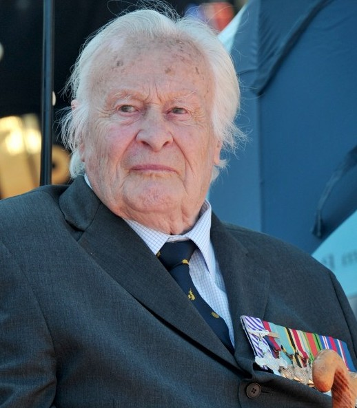 Battle of Britain veteran Geoffrey Harris Augustus Wellum, aged 93, of 92 Squadron, watches the RAF flypast to mark the 75th anniversary of the Battle of Britain in London, on July 10, 2015 Anthony Devlin/AFP/POOL)