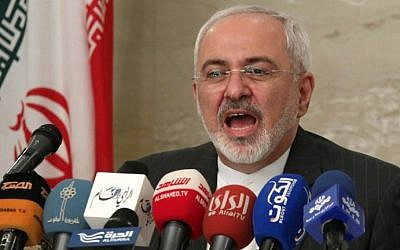 Iran's Foreign Minister Mohammad Javad Zarif delivers a speech during a press conference in Kuwait City on July 26, 2015. (Yasser al-Zayyat/AFP)