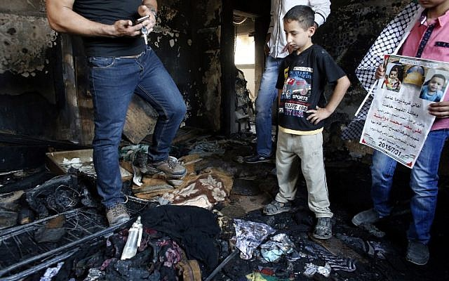 Aftermath of Jewish terrorism attack in Duma, West Bank