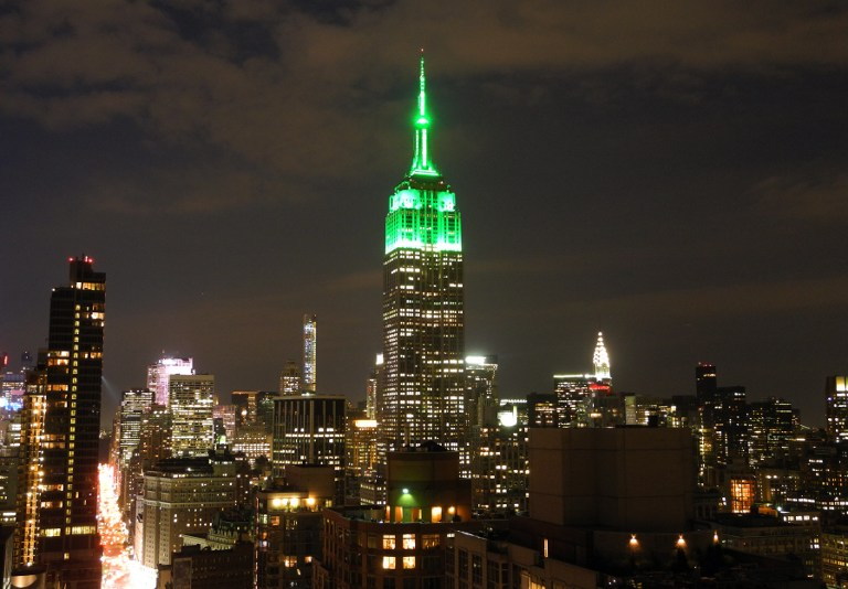 Empire State Building Turns Green For Eid The Times Of Israel