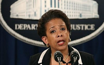 US Attorney General Loretta Lynch speaks to the media during a news conference at the Justice Department July 22, 2015 in Washington, DC (Mark Wilson/Getty Images/AFP)