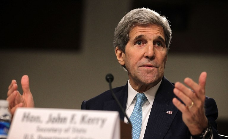 US Secretary of State John Kerry testifies during a hearing before the Senate Foreign Relations Committee July 23, 2015 on Capitol Hill in Washington, DC (Alex Wong/Getty Images/AFP)