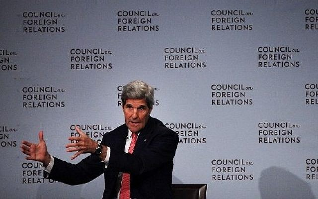 Secretary of State John Kerry speaks at the Council of Foreign Relations on July 24, 2015 in New York City. (Spencer Platt/Getty Images/AFP)