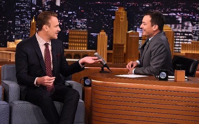 Jason Segel appearing on The Tonight Show Starring Jimmy Fallon at the Rockefeller Center in New York City, on July 29, 2015. (Theo Wargo/NBC/Getty Images for The Tonight Show Starring Jimmy Fallon/AFP)