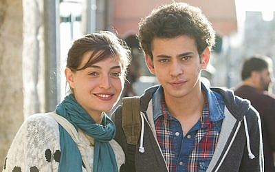 The characters Naomi (Danielle Kitzis) and Eyad (Tawfeek Barhom) date secretly in 'A Borrowed Identity.' (Courtesy of Strand Releasing)