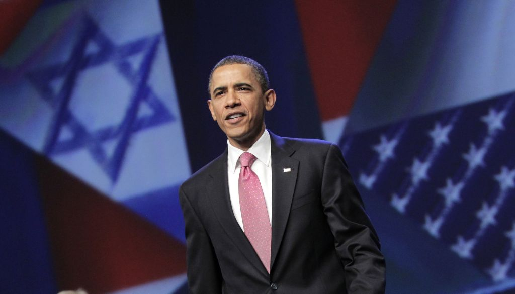 US President Barack Obama arrives to speak at the American Israel Public Affairs Committee (AIPAC) convention in Washington, Sunday, May 22, 2011 (AP Photo/J. Scott Applewhite)