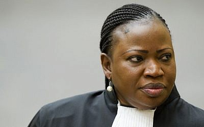 Prosecutor Fatou Bensouda at the International Criminal Court in The Hague, Netherlands, December 18, 2012. (AP/Robin van Lonkhuijsen, Pool)