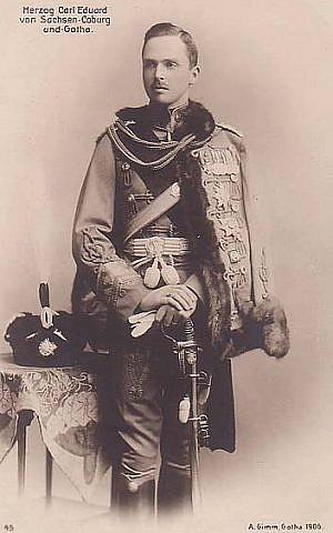 Charles Edward, Duke of Saxe-Coburg and Gotha, in 1905. (public domain via wikipedia)