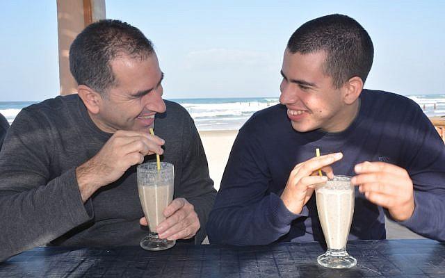 Doron Somer (left) and his son Itamar (Courtesy)