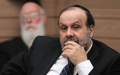 Religious Services Minister David Azulay seen during a Knesset committee meeting, February 13, 2013. (Miriam Alster/FLASH90)