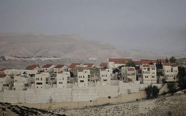 View of the Israeli settlement of Maale Adumin, in the West Bank. February 13, 2014. (Miriam Alster/FLASH90)