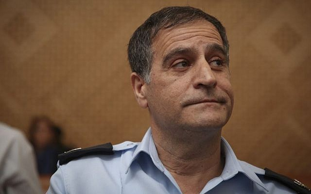Efraim Bracha, at the time a chief superintendent, seen at the Supreme Court in Jerusalem, October 20, 2014.  (Hadas Parush/Flash90)