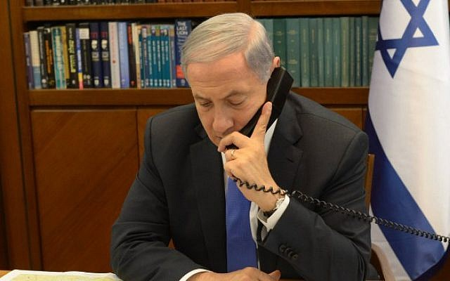 Prime Minister Benjamin Netanyahu, April 2014 (Amos Ben Gershon/GPO/Flash90)
