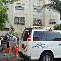 Illustrative photo of police at a crime scene in the central city of Ramle, June 1, 2015. (Flash90)