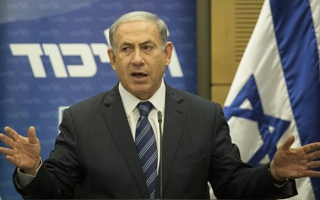 Prime Minister Benjamin Netanyahu speaks during a Likud faction meeting at the Knesset on July 6, 2015 (Hadas Parush/Flash90)