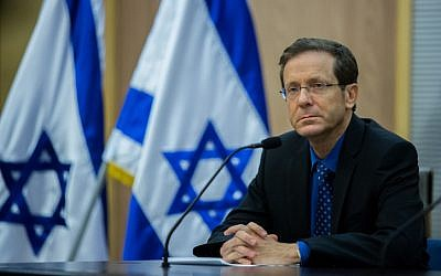 Zionist Union leader Isaac Herzog on July 14, 2015. (Yonatan Sindel/Flash90)