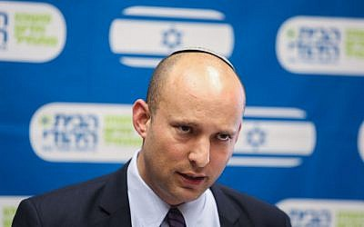Naftali Bennett, July 20, 2015. (Yonatan Sindel/Flash90)