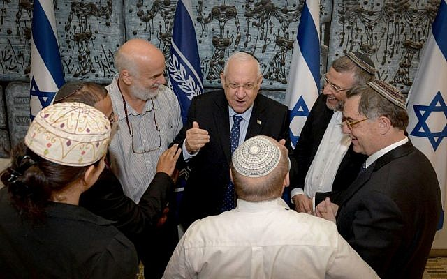 President Reuven Rivlin hosts Orthodox and non-Orthodox rabbis and leaders ahead of the Tisha Be'Av Jewish mourning day, on July 23, 2015. Photo by Mark Neyman/GPO