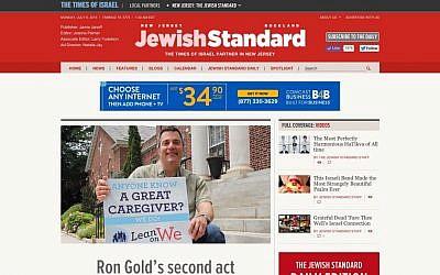 The Jewish Standard's homepage