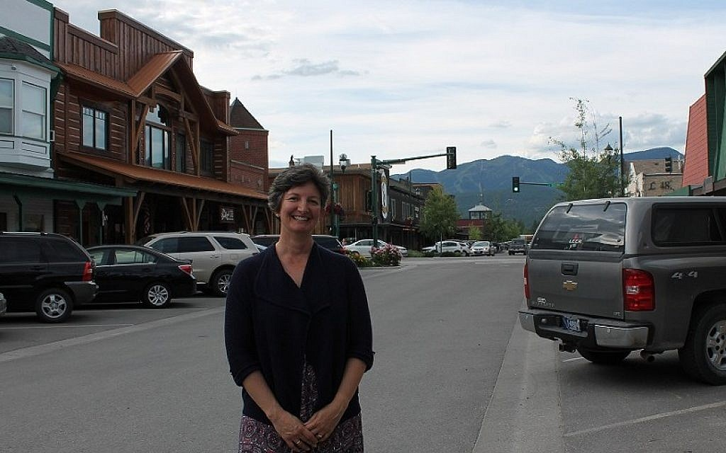Rabbi Francine Green Roston of Whitefish, Montana, on her first visit there in the summer of 2010. (Uriel Heilman/JTA)
