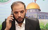 Hamas spokesman Husam Badran (Facebook image)