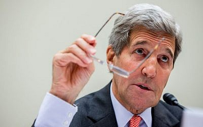 Secretary of State John Kerry testifies on Capitol Hill in Washington, Tuesday, July 28, 2015, before the House Foreign Affairs Committee hearing on the Iran Nuclear Agreement. (Andrew Harnik/AP Photo)