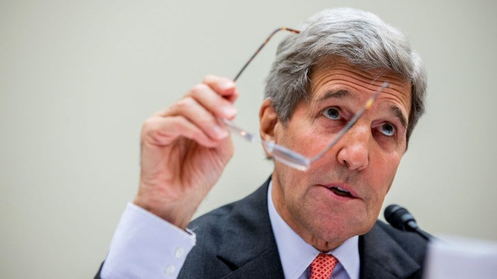 Secretary of State John Kerry testifies on Capitol Hill in Washington, Tuesday, July 28, 2015, before the House Foreign Affairs Committee hearing on the Iranian nuclear accord. (Andrew Harnik/AP Photo)