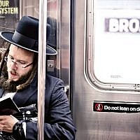 An ultra-Orthodox Jew on the New York subway: 'The wealth of New York's Jewish cultural life blew my mind'. (Andrew Bayda/Shutterstock)