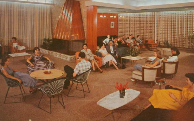 A postcard depicting Kutsher's Hotel in 1955. (JTA/Flickr Commons)