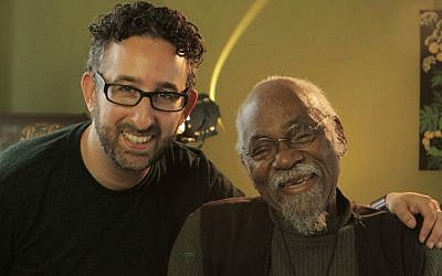 Filmmaker Jeff Lieberman, left, with musician Emile Latimer, who collaborated with Simone and was a mentor to many. (Cheryl Gorski/via JTA)